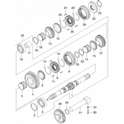 Подшипник КПП 3-4-5 передачи игольчатый Матиз Авео 1.2 GM