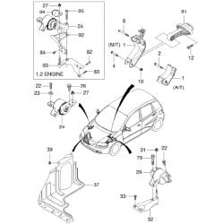 Подушка двигателя правая Авео АКПП GM.