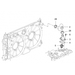 Прокладка корпусу термостата Каптива Круз Лачетті Епіка дизель GM