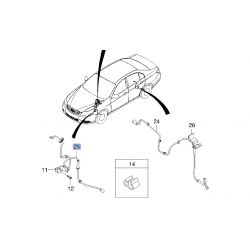 Дріт датчика ABS передній Епіка Еванда GM