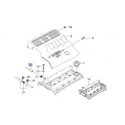 Патрубок клапана вентиляции клапанной крышки Лачетти 1.8 LDA GM