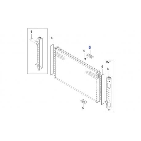 Кронштейн радиатора верхний Матиз GM 620843