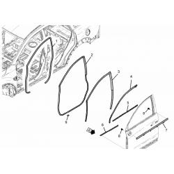 Уплотнитель двери передний левый Каптива GM