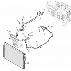 Кольцо уплотнительное кондиционера Каптива С100 GM