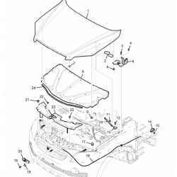 Крышка радиатора верхняя пластик Каптива C100 GM