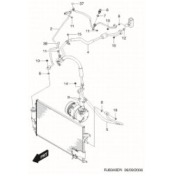 Трубка кондиционера от радиатора к испарителю Лачетти GM