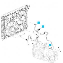 Трубка охолодження АКПП права (довга) Каптива GM