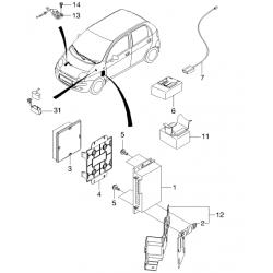 Заглушка системи відпрацьованих газів Такума Матіз GM