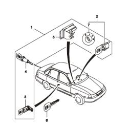 Крышка выключателя замка зажигания Нексия GM