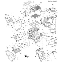 Мотор обігрівача салону Круз GM