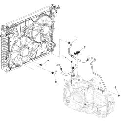 Трубка охолодження АКПП ліва (коротка) Каптива GM