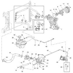 Шланг подогрева дроссельной заслонки (подводящий) длинный Круз Авео 1.4 LDT GM