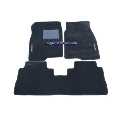 Килимки в салон ворсові Каптива C100 (з перегородкою, чорні)