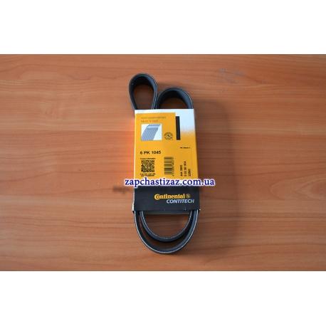 Ремень генератора Сенс с ГУР и кондиционером Contitech 6PK1045 Фото 1 6PK1045