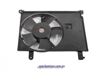 Вентилятор радиатора охлаждения дополнительный Лузар для Ланоса (Lanos) с кондиционером
