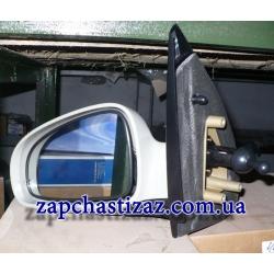 Зеркало наружное левое механическое с подогревом под покраску на Шевроле Авео Chevrolet Aveo T-250 T-255