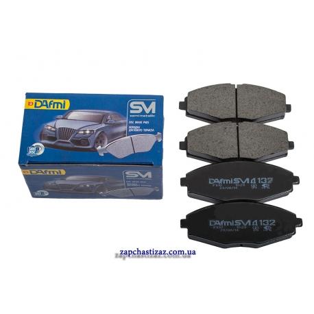 Колодки тормозные передние Dafmi для автомобилей Ланос и Сенс Д132 Фото 1 D132SM