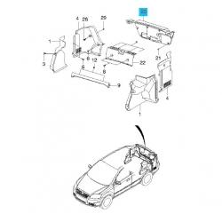 Обивка крышки багажника Авео T-250 GM