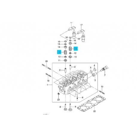 Пружина клапана впускного и выпускного 1,5 Ланос Авео OE 90180310 OE Фото 1 90180310 OE