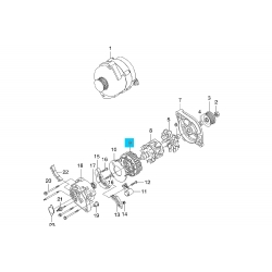 Статор генератора Ланос 85A AS