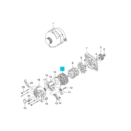 Статор генератора Ланос 85A AS. 210934 AS Фото 1 210934 AS