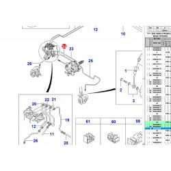 Трубка гальмівна від гл. гальмівного до модулятору (з ABS) GM