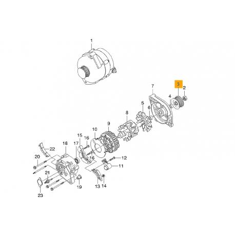 Шкив генератора Ланос DM. 93740819 DM Фото 1 93740819 DM