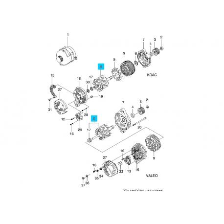 Якорь генератора Ланос 85 А AS 93740749 (210933) Фото 1 93740749 (210933)