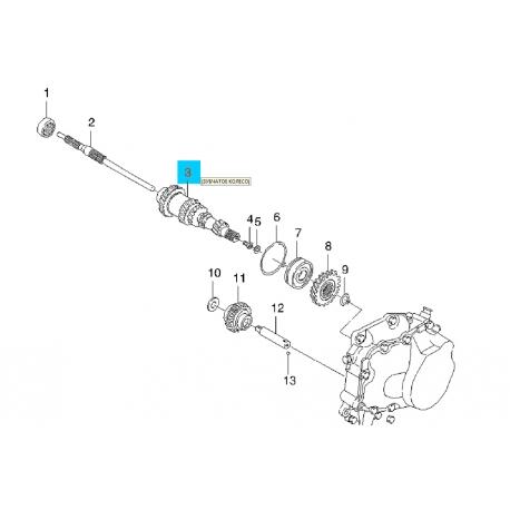 Вал первичный (ведущий) задний Ланос1.5 Лачетти 1.8 96237736 Фото 1 96237736