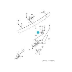 Привод замка крышки багажника Лачетти хетчбэк универсал GM