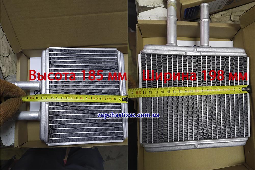 радиатор авео размеры